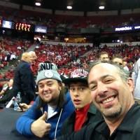 Jayc & Dad Sitting next to Chumlee UNLV Basketball
