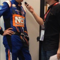 OUTTA LINE  Bryan Interviewing Kyle Busch after he won the Boyd Gaming 300 2016