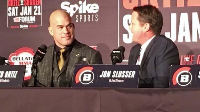 Tito Ortiz talks to Jon Slusser