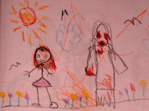 kids draw some creepy drawings no they are not serial