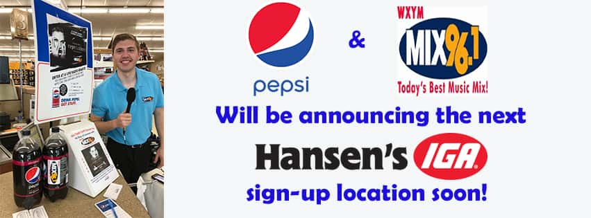 Keep listening for our next Sign-Up Location!