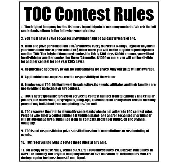 TOC Contest Rules