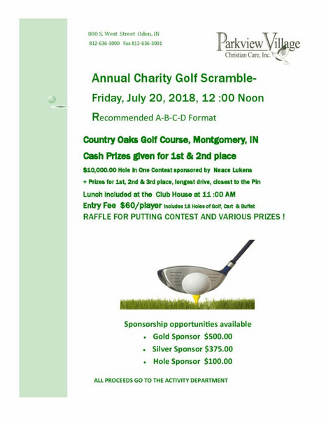 parkview annual charity golf scramble | wqty 93.3