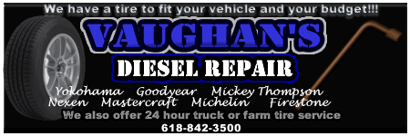 vaughan's diesel repair banner