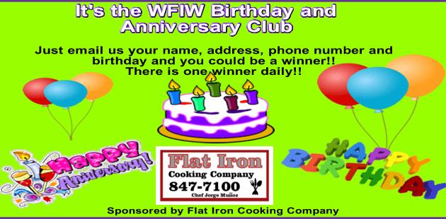 new birthday club slider with flat iron