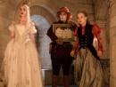 L-R: Anne Hathaway, Johnny Depp and Mia Wasikowska; Peter Mountain/Walt Disney Studios