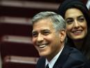 "George and Amal Clooney attend ""Un Muro o Un Ponte"" Seminary Sunday in Vatican City;  Franco Origlia/Getty Images"
