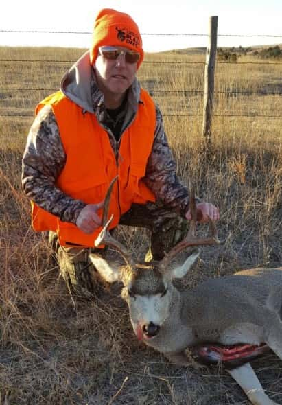 Doug Ziska, of Omaha NE with his 5x5 buck Saturday, Nov 12th near Broken Bow, NE