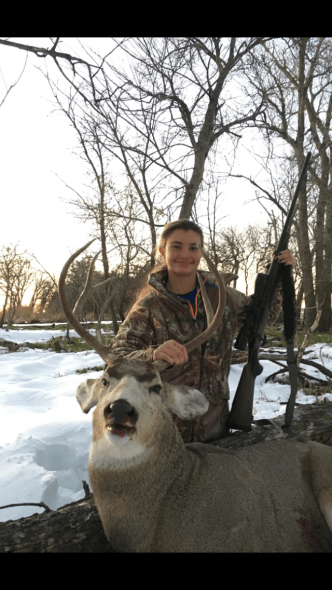 Jocelyn Hamilton. 14 yrs old. Her 2nd deer. 5x3 taken last day