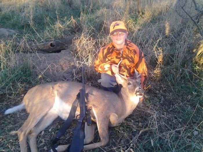 Logan Poessnecker got a nice buck this weekend