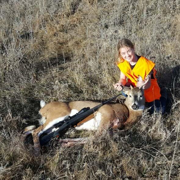 Schuylar Morrow's first deer.