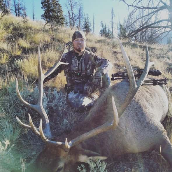Tanner Hess with a 6x6 wyoming archery bull shot sept 10
