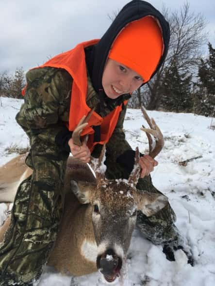 McKenzie DeSive and her deer