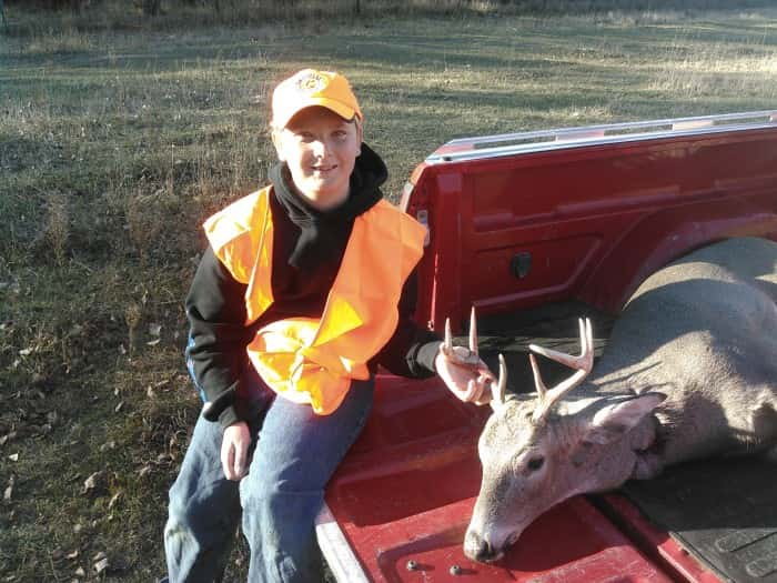 Weston Keyes, age 10, 1st deer