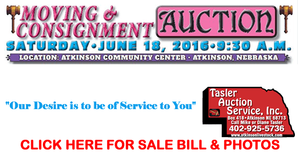 Tasler Moving Auction Ad