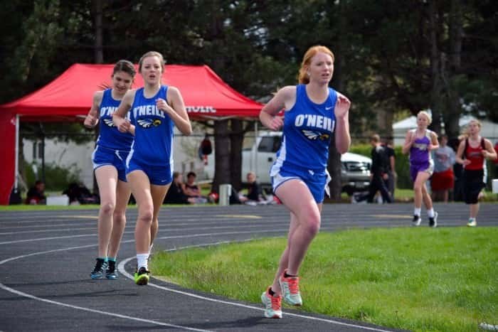 Alexis Montes, Tessa Rainforth and Abby Gillham in the 1600  Photo courtesy Kevin McNichols