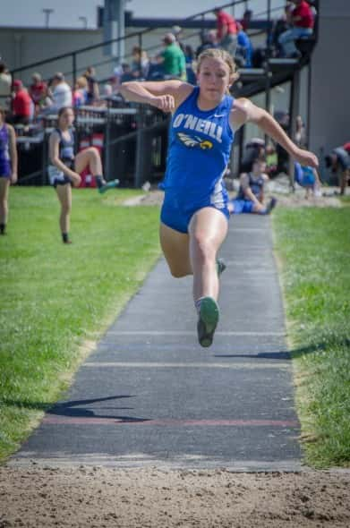 Allison Ludwig competing in Triple Jump