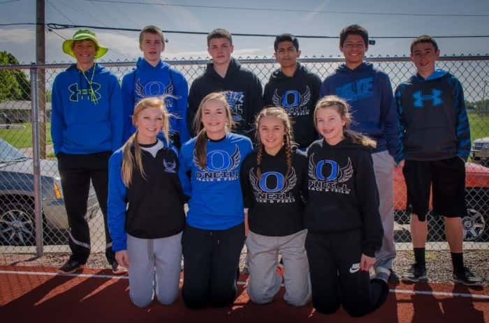 Athletes That Represented O'Neill Jr. HIgh Photo Courtesy Mike Peterson