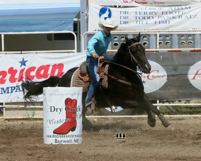 Brook Jamison the Ashby native Cowgirl , is the Nebraska High School Barrel Racing Champion.