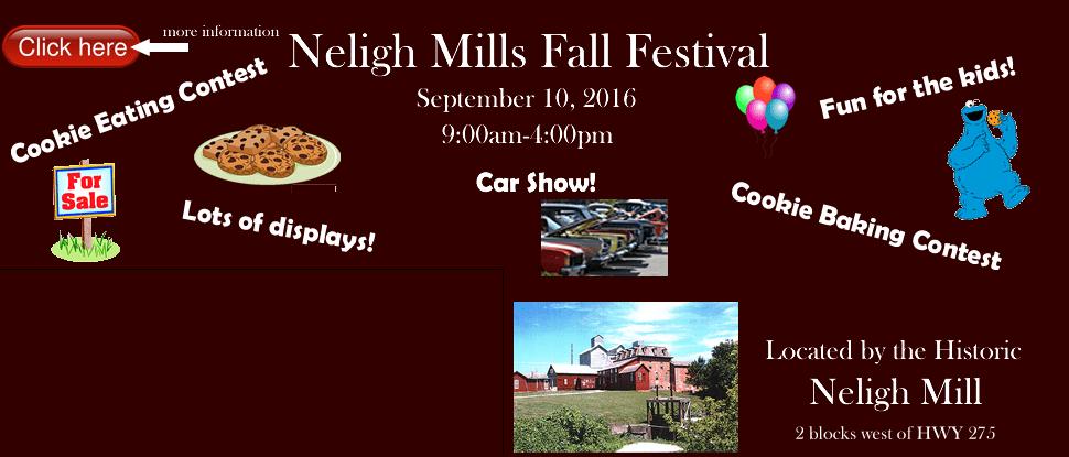 Neligh Mills Fall Festival Slider