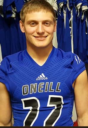 Bailey Thompson is our week 3 Stadium Sports Male Top Dog Athlete of the Week. (Photo Courtesy Huskerland Preps)