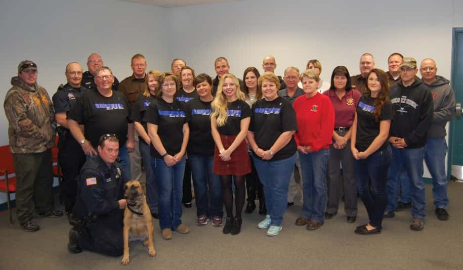 A special event was hosted to show appreciation to local and area law enforcement recently. Pictured above are members of Bright Horizons, District 8 Probation Office, Holt County Veteran Services Office, Holt County Attorney's Office, O'Neill Police Department, Holt County Sheriff's Department, Boyd County Sheriff's Department and Nebraska State Patrol. Photo by Amanda Sindelar