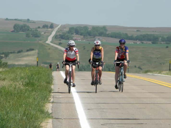 Cyclists enjoy the scenery on Tour de Nebraska, a noncompetitive 5-day bicycling adventure held every year in the state. Registrations are now being accepted for the 30th Annual Tour de Nebraska, which will tour through the Nebraska Sandhills from June 21-25,2017. For more information, visit: www.TourdeNebraska.com