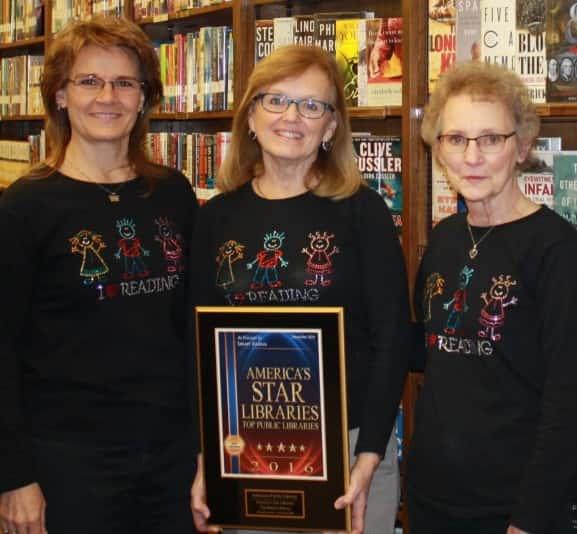 (left to right) Terri Shearer, Director Judy Hagan, and Roseanne Schiffern