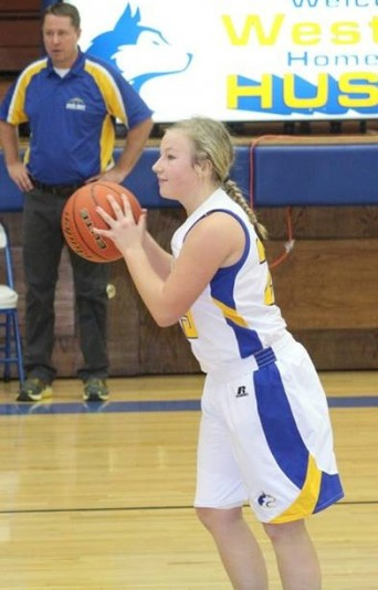 Ciera Shaw a Senior on the West Holt Huskies Girls basketball team is our Stadium Sports Female Top Dog Athlete of the Week. (Photo Courtesy of Linda Shaw)