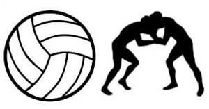 Volleyball and Wrestling clipart