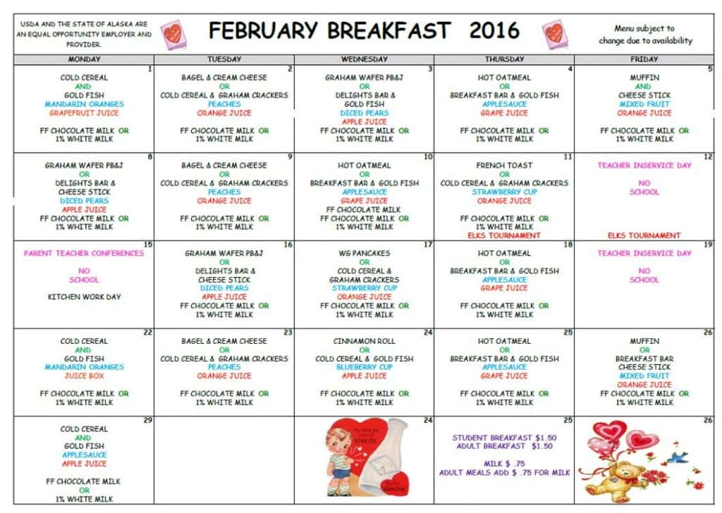 February 2016 Breakfast