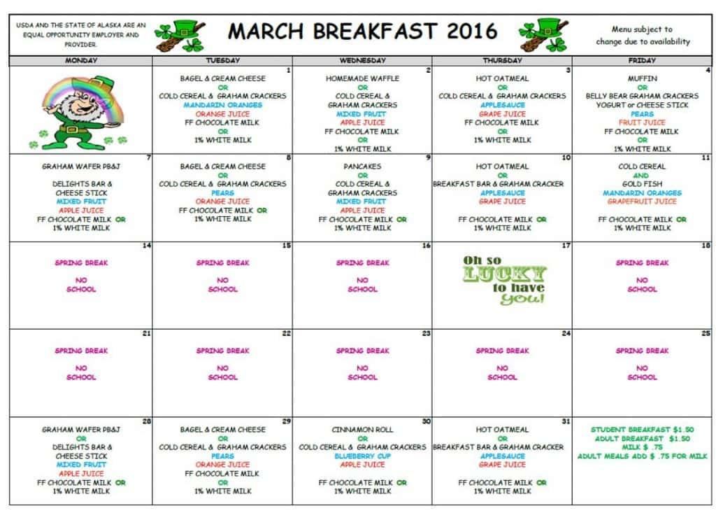 March 2016 Breakfast