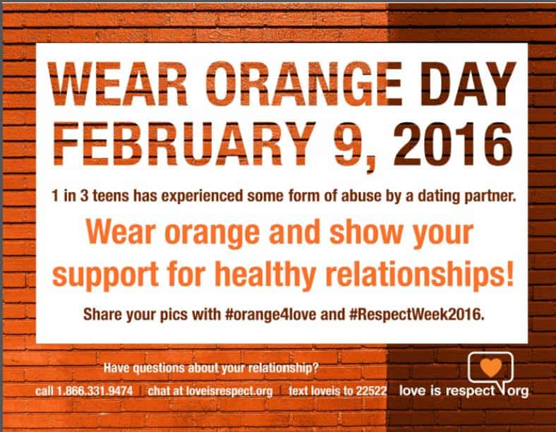 Wear Orange Day- Feb 9, 2016