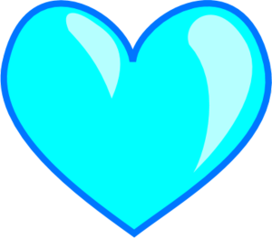 Heart- blue