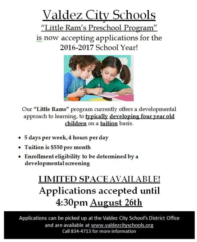 Little Ram's Preschool Program Flyer