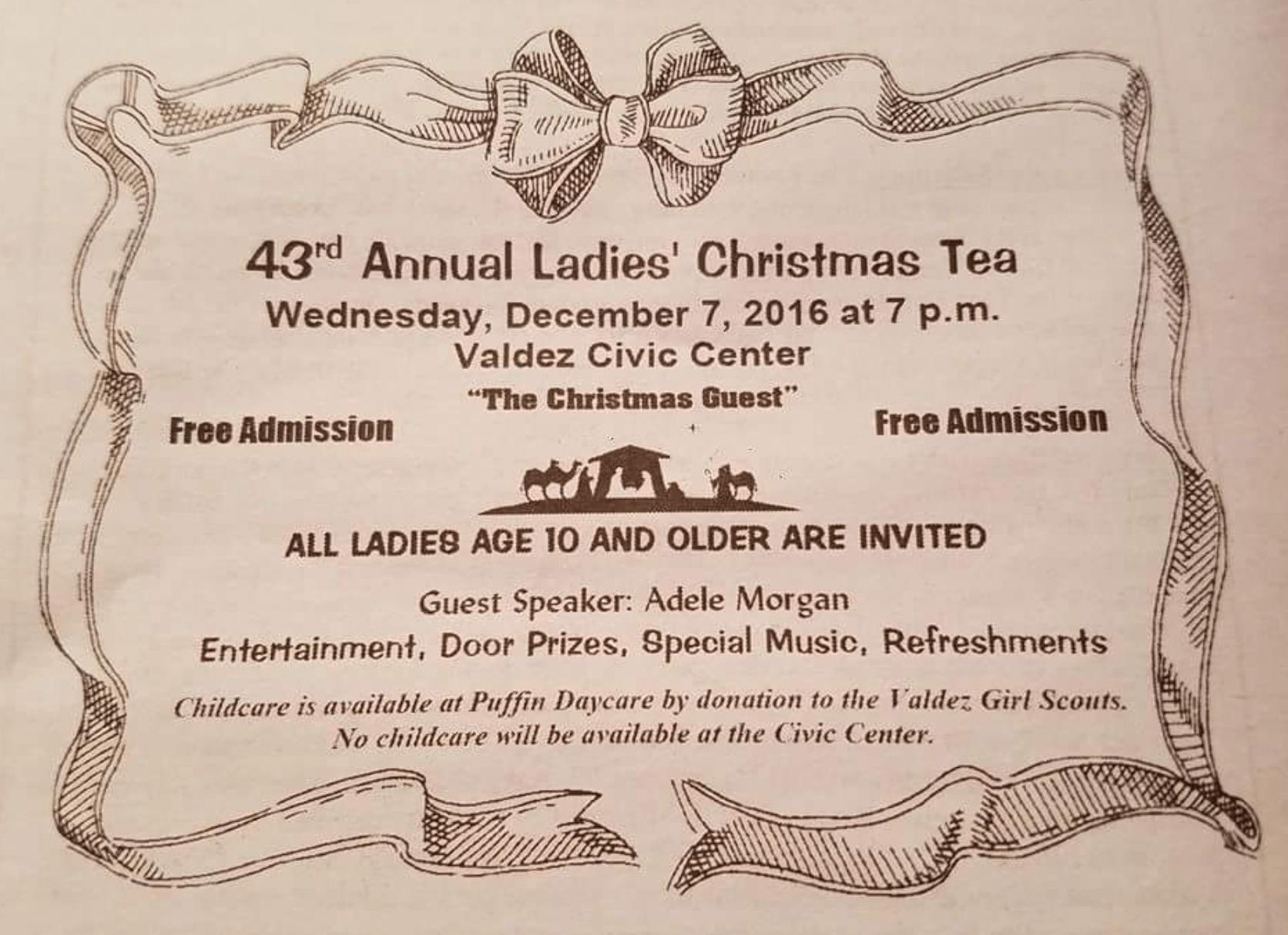 Ladies' Christmas Tea Flyer
