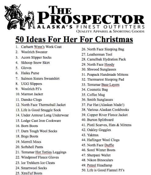 Prospector Gift Ideas for Her