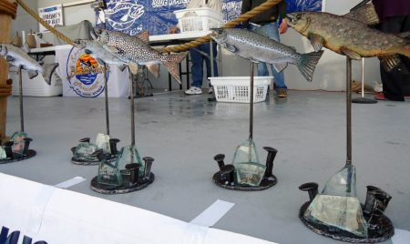 Salmon Stakes trophies