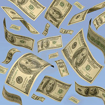 Money Bills Floating Down GSA