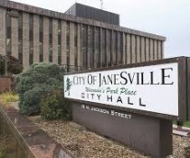 Janesville city hall sign