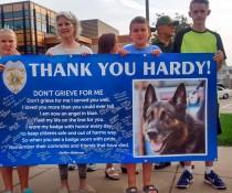 Janesville Police K9 Hardy memorial