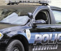 Janesville police car close up