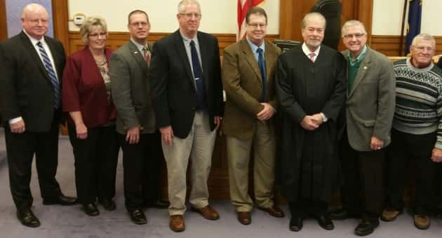 The Sanilac County Board of Commissioners took the Oath of Office Tuesday afternoon