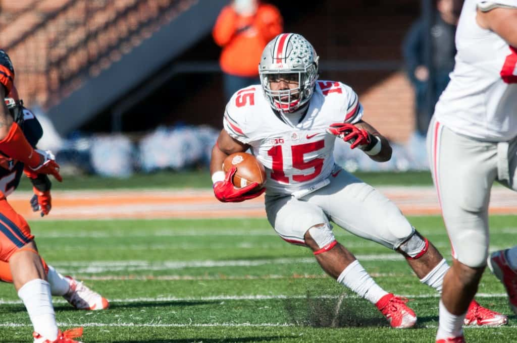 Ohio State Illinois Football Ezekiel Elliott