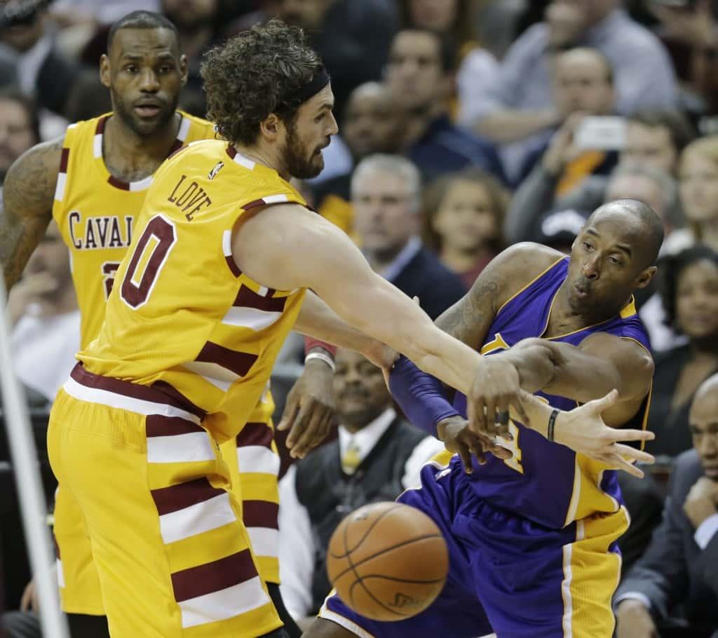Kevin Love, Kobe Bryant, LeBron James