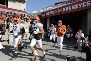 Cleveland Browns during an NFL training camp scrimmage game at Ohio Stadium Friday, Aug. 7, 2015, in Columbus, Ohio. (AP Photo/Jay LaPrete)