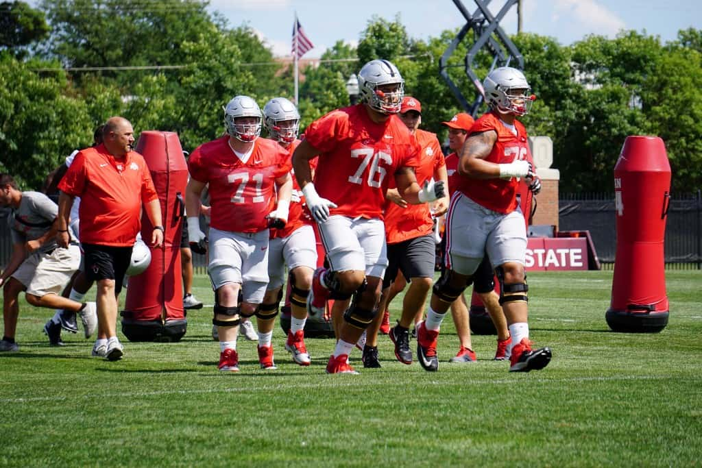 The Offensive Line Takes the Field
