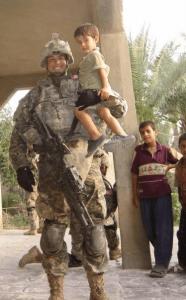 McCall, SGT Daniel - in uniform with kids