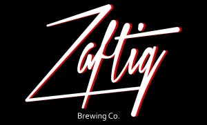 Zaftig logo on black