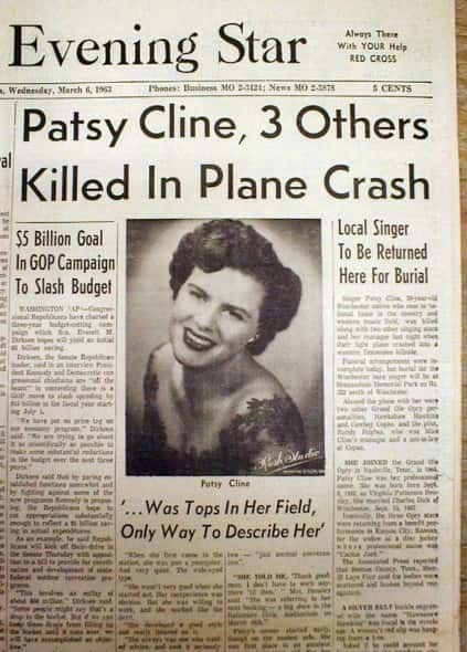 PATSY CLINE NEWSPAPER